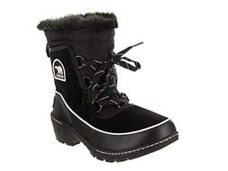 SOREL Womens Tivoli II Snow Boot, Black/Light Bisque, 6.5 B