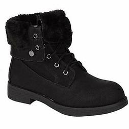 DREAM PAIRS Women's Warm Winter Montreal Faux Fur Ankle Bo