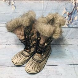 Sorel Womens Waterproof Insulated Winter Snow Boots Black Si