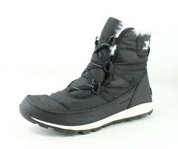 SOREL Womens Whitney Black Snow Boots Size 8.5