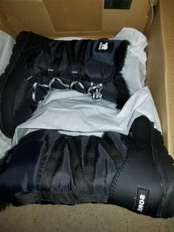 Sorel Womens Whitney Tall Lace II Boots size 5 Black Waterpr