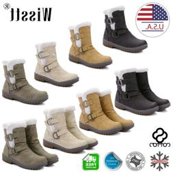Womens Winter Ankle Boots Snow Fur Warm Insulated Waterproof