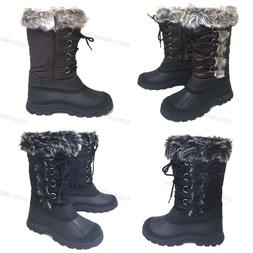 Womens' Winter Boots Fur Warm Insulated Waterproof Zipper Sk