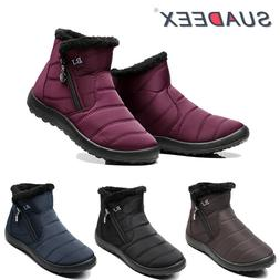 Womens Winter Snow Ankle Boots Fur Lined Waterproof Outdoor