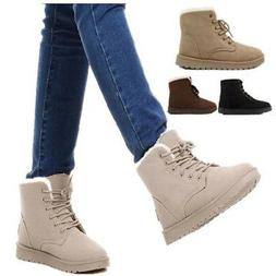 womens winter warm casual faux suede fur